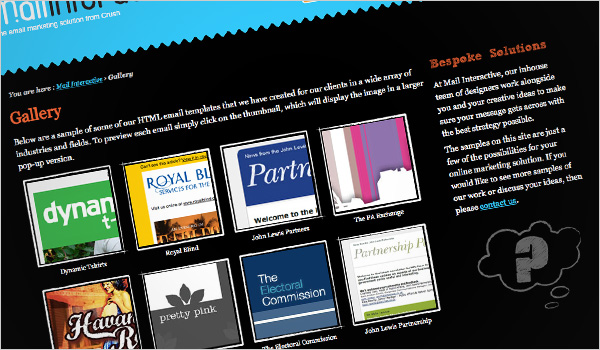 Mail Interactive Gallery Screen Shot