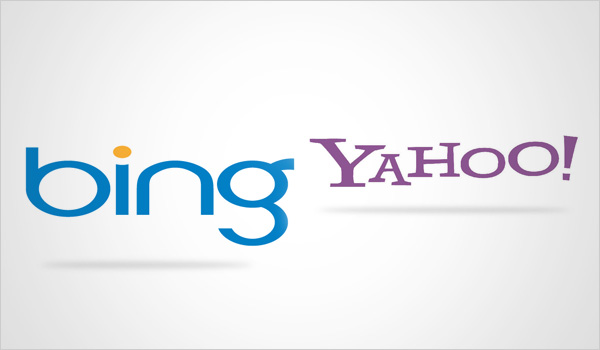 Yahoo and bing logos