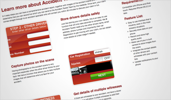 Accident Toolkit screen grab