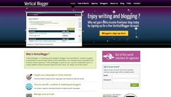 Vertical Blogger homepage
