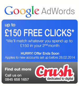 Crush Google Adwords PPC Voucher