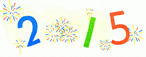 New Year 2015 Google doodle still