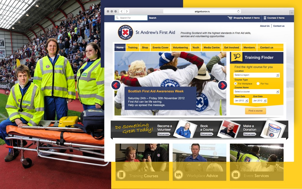 charity website for st andrews first aid
